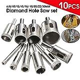 Zreal 10PCS marmo drill bit 6-30mm diamantata sega a tazza Core trapano per piastrelle in vetro ardesia marmo