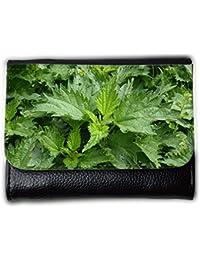 le portefeuille de grands luxe femmes avec beaucoup de compartiments // M00291521 Brennessel Weed Hierbas Ppflanze Jardín // Medium Size Wallet