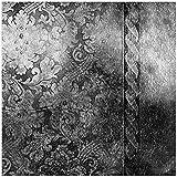 Wallario Möbeldesign/Aufkleber, geeignet für Ikea Lack Tisch - Schnörkelmuster in grau in 55 x 55 cm