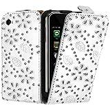 Seluxion - Housse coque Etui Diamant pour Apple Iphone 3G / 3GS couleur Blanc