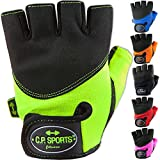 C.P. Sports Iron-Handschuh Komfort farbig Trainingshandschuh Fitness Handschuhe für Damen und Herren (Schwarz, XS/6 = 14-16cm)