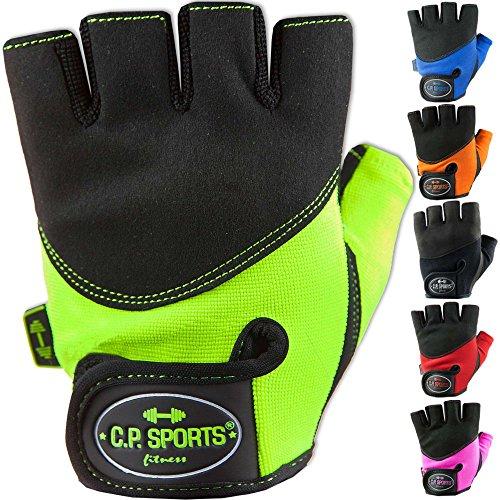 C.P.Sports Iron-Handschuh Komfort farbig Trainingshandschuh Fitness Handschuhe für Damen und Herren (Schwarz, XS/6 = 14-16cm)