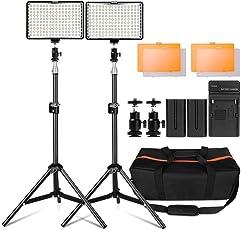 """LED Video Licht, 160 Stück Dimmable LED Kamera Licht Panel und 79"""" Einstellbarer Licht Ständer für Canon Nikon Sony Kamera Camcorder, 160 LED Videolicht Videobeleuchtung-Set LED-Videoleuchte"""
