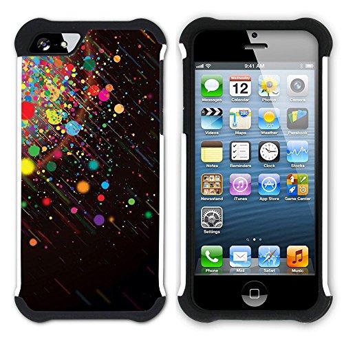 Graphic4You Farbpalette Gemälde Malerei Kunst Farben Hart + Weiche Kratzfeste Hülle Case Schale Tasche Schutzhülle für Apple iPhone SE / 5 / 5S Design #6