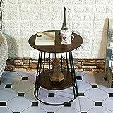 AODISHA beistelltische Couchtisch, Restaurant Bar Schlafzimmer Wohnzimmer Hotel Tabelle Kleine Runde Tisch Besprechungstisch Dessert Tisch Beistelltisch Vintage Massivholz Größe 45 * 45 * 50CM -Gib mehr Komfort für das Leben