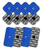 TENSPAD SILVER 8 electrodos con 1 Snap, 50 x 50 mm y 4 electrodos con 1 Snap, 50 x 100mm,...
