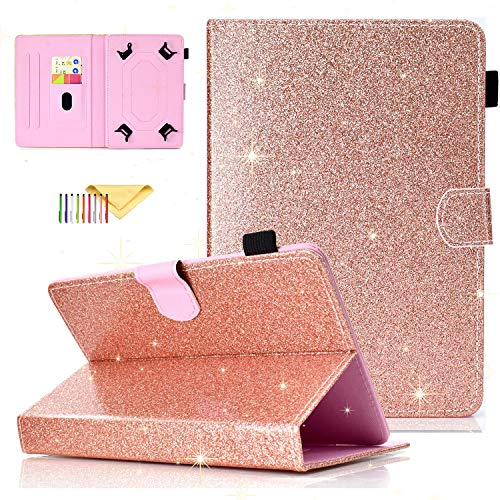 Uliking Universal Bling Glitzer Hülle für Samsung Galaxy Tablet, Apple iPad, Amazon Kindle, Google Nexus und weitere 16,5-10,5 Zoll Tablet - Case Zoll-rca 8 Tablet