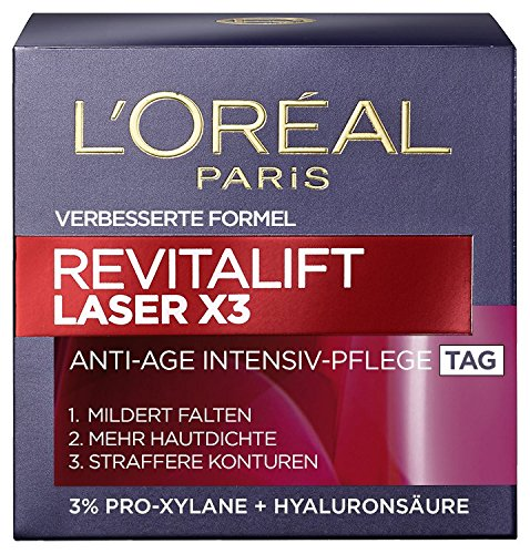 L'Oreal Paris Gesichtscreme Revitalift Laser X3 Anti-Age Tagescreme, 1er Pack (1 x 50 ml)