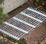 CKB Ltd® Metal Grill Galvanised Steel Doormat Large Verzinkte Fußmatte Metall-Grill Galvanisierter Stahl-Fußmatte Fußmatten Garten-Eingang Eingangstür Heavy Duty Stiefel-Schaber-Matten - Groß
