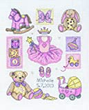 Anchor Sampler Girl Birth SS13 Counted Cross Stitch Kit