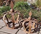 Unbekannt Metall Krone Rautenspitze Rostoptik klein 21 cm Garten Deko Wohnambiente - 1 Stück, Krone klein