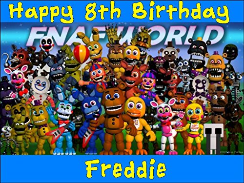 A4 Five Nights at Freddy's Design 2 Edible Icing Birthday Cake Topper