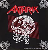 Bandana Motorradtuch Mundtuch Halstuch Kopftuch schwarz rot Anthrax Totenkopf