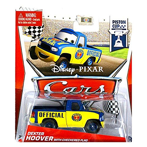 Disney Pixar Cars 2 Dexter Hoover With Checkered Flag - Voiture Miniature Echelle 1:55