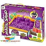 Toys Bhoomi Garden's Play 1.5KG Magic Sand Activity Sandbox Playset with Molds & 100% Safe Gluten-Free Play-Sand