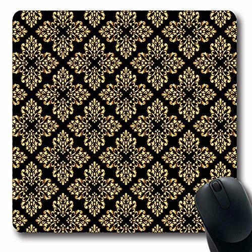 Luancrop Mauspads für Computer Klassische rote Barockkönigin Fleur De Abstract Europäische Antike Grenze Damast Eleganz Emblem Design rutschfeste Längliche Gaming-Mausunterlage -