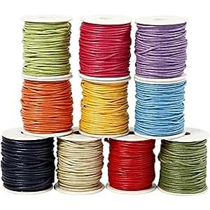 Ficelle coton - Assortiment, épaisseur 2 mm, couleurs franches, 25m