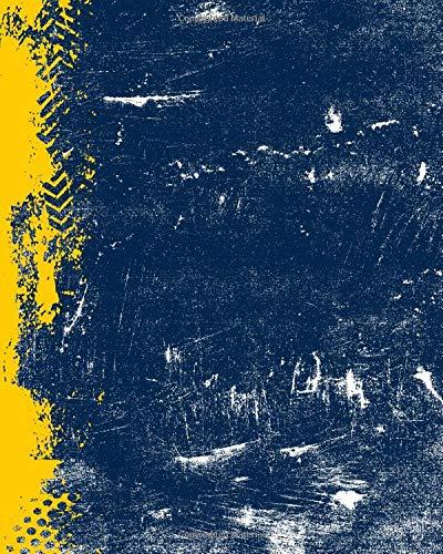 Blue And Maize: (8 x 10 Dot Grid) Blank Journal Grunge School Color Notebook por Belle Journals
