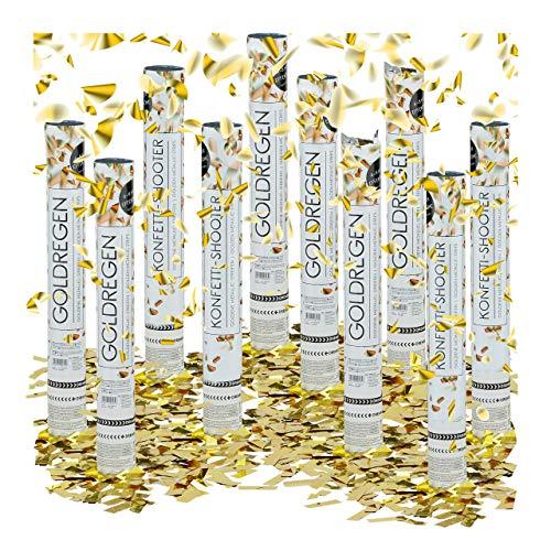 Relaxdays – Conjunto de 10 cañones de confeti, cañón confeti para bodas y cumpleaños, efecto...
