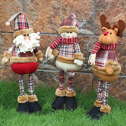 Global Brands Online Nuevo muñeco de Nieve Flexible de Santa Claus muñeco de Reno Decoración de Navidad Adornos de árbol Colgante