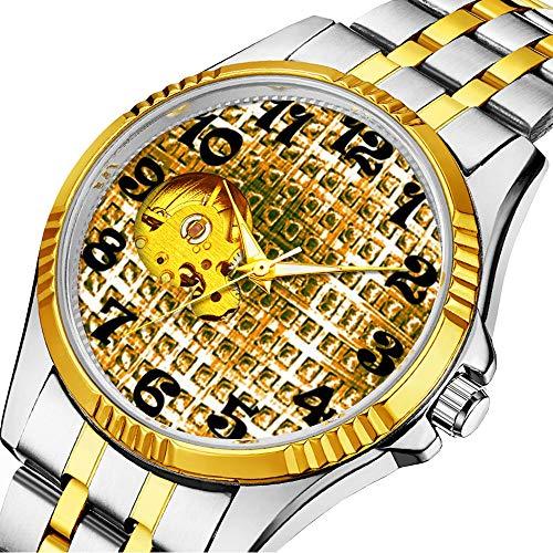 Mechanische Uhr Herrenuhr Klassische mechanische Uhr Timeless Design Mechanic (Gold) 593.Gold Disco Ball Mirror Bling