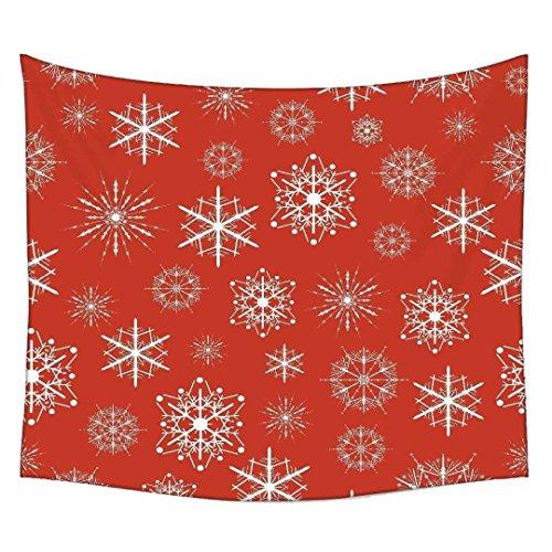 Snoogg weiß Muster Rot Wandteppichen indischen Mandala Tapisserie Dekorative Wohnheim Wandteppichen Beach Picknick Tabelle Hippie Tapisserie Wand, Bohemian