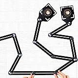 Angleizer Template Tool, 12 zijden, multihoekliniaal, aluminiumlegering, hoeksjabloon, multi-angle meetliniaal voor architect