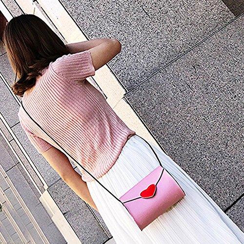 Longra Donna Sacchetto di spalla della benna di pesca di modo Rosa