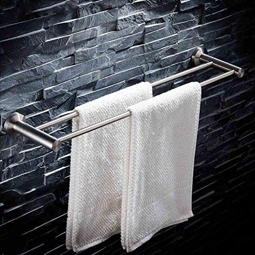 XJRHB Doppelter Handtuchhalter aus Edelstahl 304, frei lochend, Multi-Size optional (größe : 90cm)