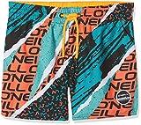 O'Neill Jungen Strike Out Boardshorts Bademode Badeshorts, Black AOP W/Yellow, 164