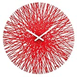 Koziol Silk - Reloj de pared, color rojo