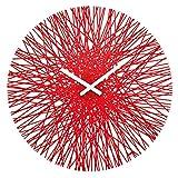 koziol Wanduhr  Silk,  Kunststoff, transparent rot, 3,5 x 44,8 x 44,8 cm