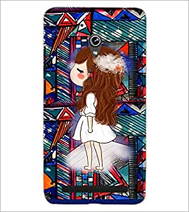 PrintDhaba Princess D-3146 Back Case Cover for ASUS ZENFONE 6 A601CG (Multi-Coloured)