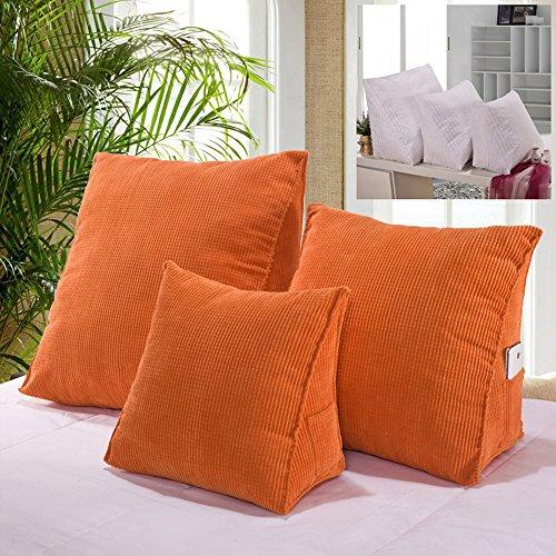 Super Groß Rückenkissen / Lordosenstütze / Lendenkissen / Keilkissen verbessert die Körperhaltung und verhindert untere Rückenschmerzen Schwangere Zuhause Bett Sofa Büro Verwendung (Orange)
