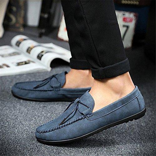 uomini occasionale scarpe di pelle, scarpe alla moda casual, pedale pedale scarpe casual scarpe, scarpe casual deep blue