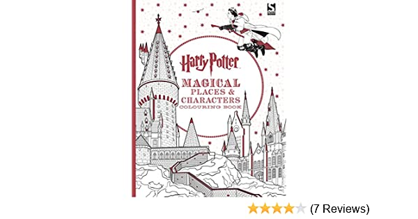 Harry Potter Magical Places & Characters Colouring Book: Amazon.de ...