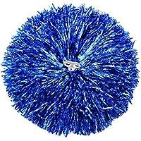 Set de 2 Animadoras Juegos de accesorios de flores de mano Pom Poms Dance Ball, Azul