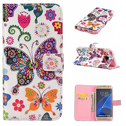 Aeeque iPhone 5/5S/5C/SE/6 plus/6S,, Samsung Galaxy S3/S4/S5/S6/S6/S6 Edge Edge J5/plus/nota 5/S7/S7/Edge G360/G530/i9060, Sony Xperia M4/Z5 mini/Z5, P8 Huawei Lite pittura, disegno elegante Custodia Floral Butterfly
