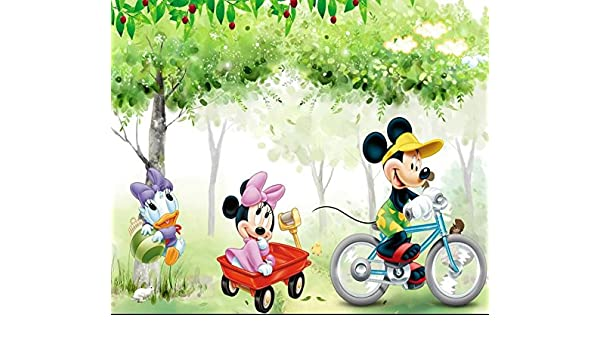 Trustech Customised Disney Mickey Minnie Mouse 3d Wallpaper For