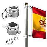 Wrightus - Anillos de montaje para mástil de bandera de aluminio, rotación de 360 grados, kit de barra de bandera giratoria,