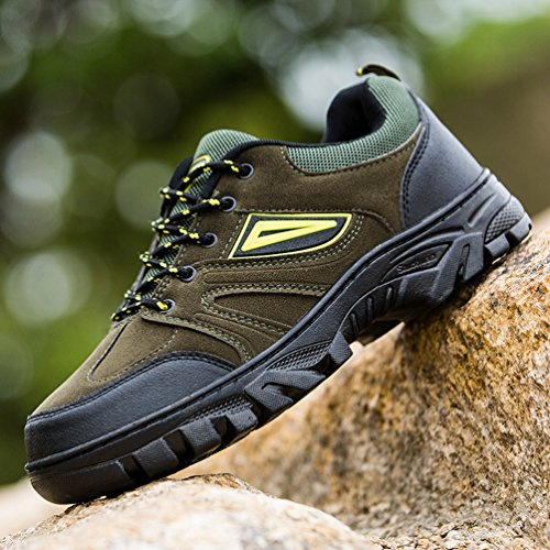 Xi-gua, Chaussures De Marche Et De Randonnée Vertes Pour Hommes