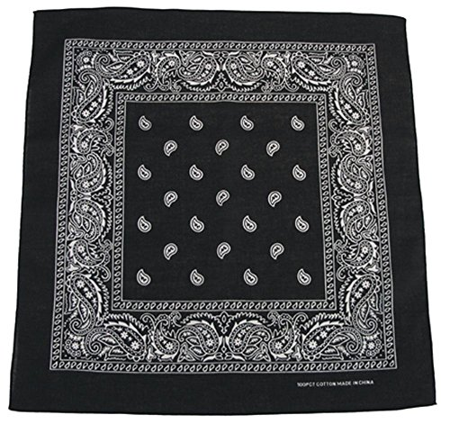 ch schwarz-weiß Schwarz (Flag Bandana)