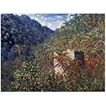 ArtPlaza Monet Claude the Valley Sasso Bordighera Pannello Decorativo, Legno, Multicolore, 80x60 cm