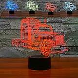 HPBN8 3D LKW Illusions LED Lampen Tolle 7 Farbwechsel Acryl berühren Tabelle Schreibtisch-Nacht licht mit USB-Kabel für Kinder Schlafzimmer Geburtstagsgeschenke Geschenk