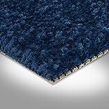 BODENMEISTER BM72182 Teppichboden Auslegware Meterware Hochflor Shaggy Langflor Velour blau 400 cm und 500 cm breit, verschiedene Längen, Variante: 5,5 x 4 m