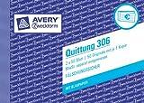 Avery Zweckform 306-5 Quittung MwSt. separat ausgewiesen 5er Pack