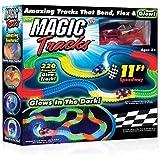 Kacsoo Magic Race Bend Flex and Glow Tracks-220 Pieces,Plastic Magic 11 Feet Long Flexible Tracks Car Play Set for Kids…