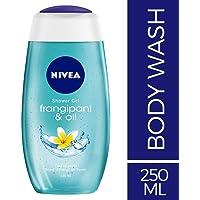 NIVEA Frangipani & Oil Shower Gel, 250ml with care oil pearls and frangipani scent