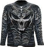 Spiral Men - Skull Armour - Allover Longsleeve T-Shirt Black