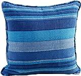 Homescapes Kissenhülle Morocco in Streifen-Design Kissenbezug 45 x 45 cm aus 100% reiner Baumwolle mit Reißverschluss in blau